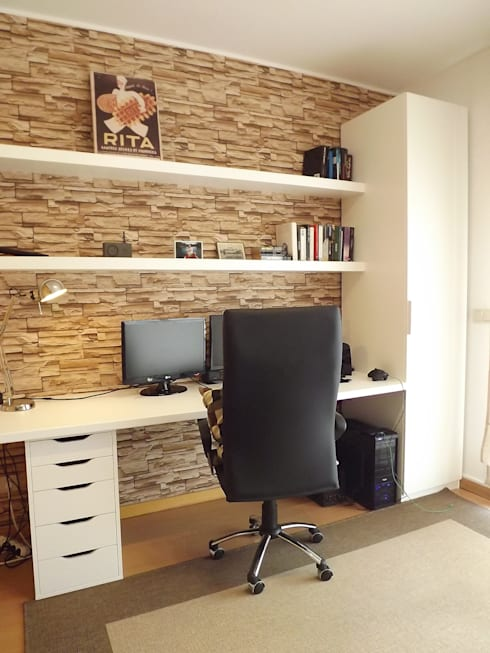 Escritório: Escritórios e Espaços de trabalho  por Traço Magenta - Design de Interiores