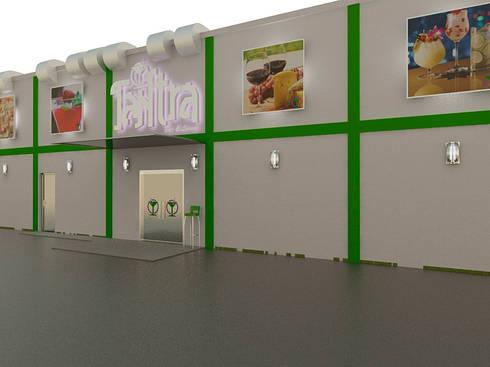 Diseño de Tantra Bar & Lounge: Bares y Clubs de estilo  por Simon Lopez Diseños 3D