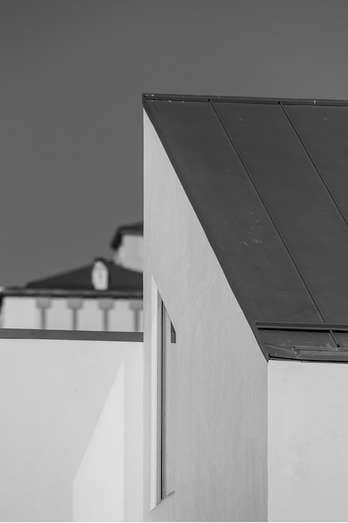 roof detail : min workshop의  주택