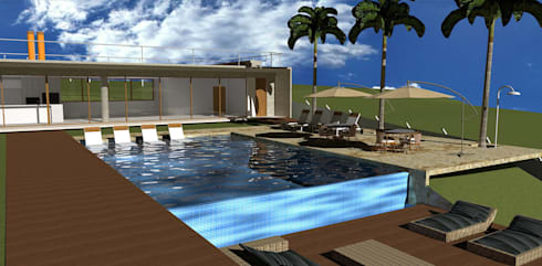 casa hc: Piscinas modernas por grupo pr | arquitetura e design
