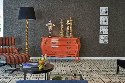 Sala - Decora Lider - 2013: Salas de estar modernas por Haifatto Arq + Decor