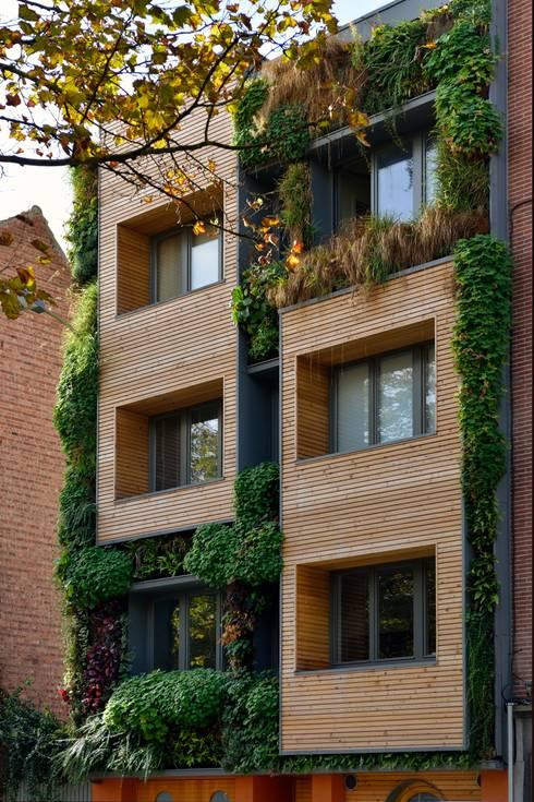 Immeuble cologique modulable et recycl e projet pouvant for Immeuble ecologique