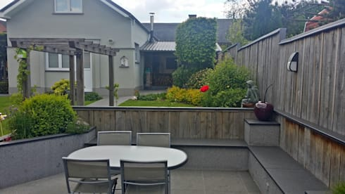 Jardin avec coin repas de 400m por rvb paysage homify for Amenagement jardin 800m2