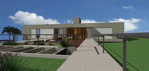 casa hc: Terraços  por grupo pr | arquitetura e design