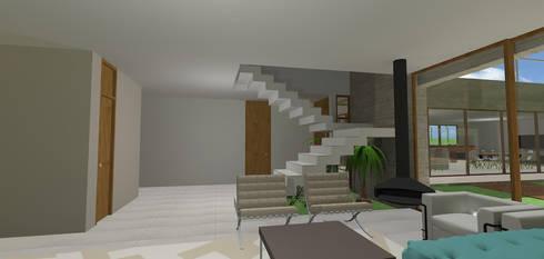 casa hc: Salas de estar modernas por grupo pr | arquitetura e design