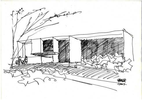 Croqui da Rua:   por Carlos Bratke Arquiteto