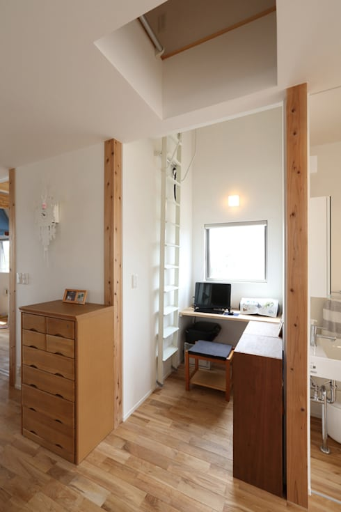 Projekty,  Domowe biuro i gabinet zaprojektowane przez nano Architects