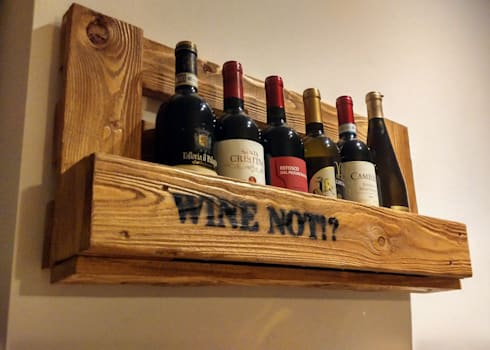 Portabottiglie wine not di idea ivan de angelis homify for Porta vino fai da te