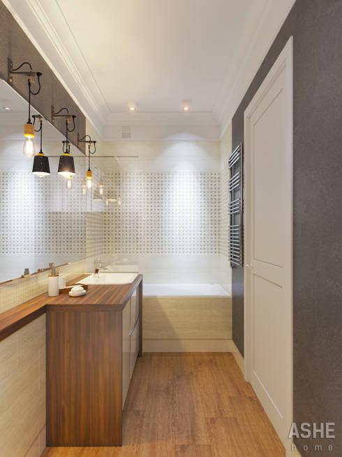 Квартира  в ЖК Уфимский Кремль: Ванные комнаты в . Автор – Студия авторского дизайна ASHE Home