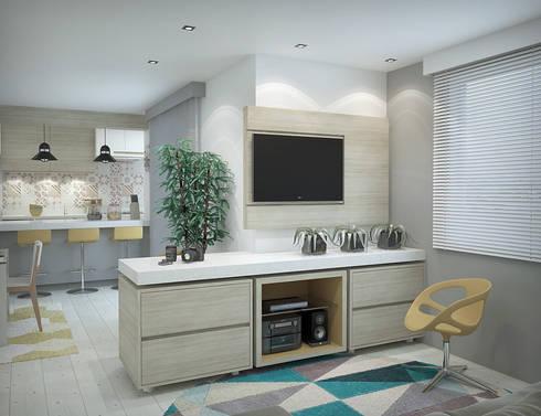 Apartamento #101: Salas de estar modernas por studio vtx