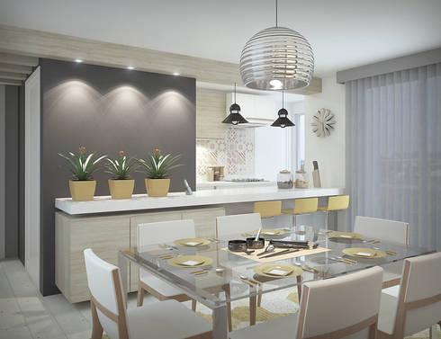 Apartamento #101: Salas de jantar modernas por studio vtx