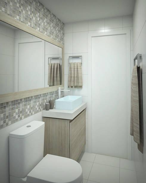 Apartamento #101: Banheiros modernos por studio vtx