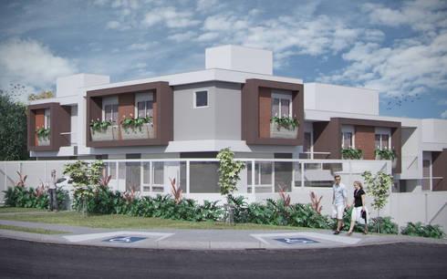 Residencial Uberaba: Casas minimalistas por studio vtx