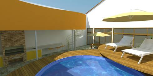 Área de Lazer no Loft: Piscinas modernas por Studio 21