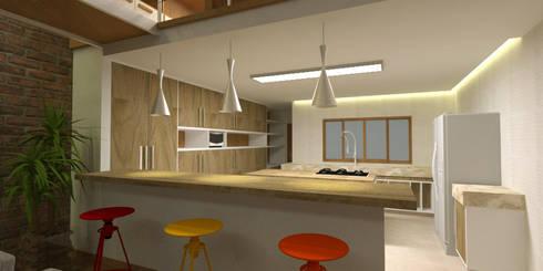 Cozinha no Loft: Cozinhas modernas por Studio 21