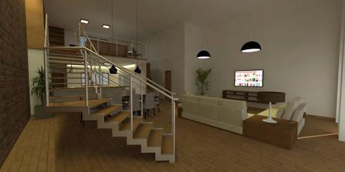 Sala de Estar no Loft: Salas de estar modernas por Studio 21