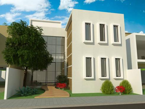 Fachada: Casas modernas por Studio 21