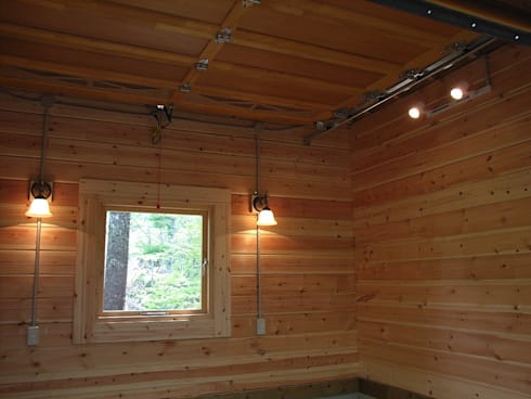 多目的小屋の内部: Cottage Style / コテージスタイルが手掛けたガレージ/物置です。