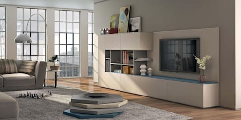 Mobiliário de Sala de estar Living room furniture www.intense-mobiliario.com  Abby http://intense-mobiliario.com/product.php?id_product=3642: Sala de estar  por Intense mobiliário e interiores;