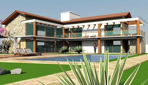 Casa Convívio : Casas ecléticas por Habita Arquitetura