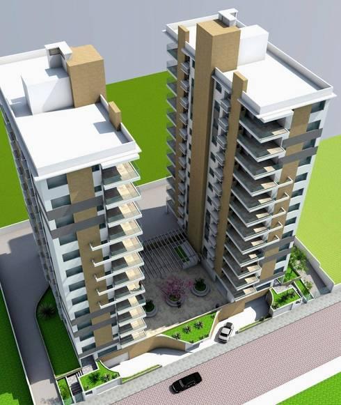 Prédio Mod5: Casas ecléticas por Habita Arquitetura