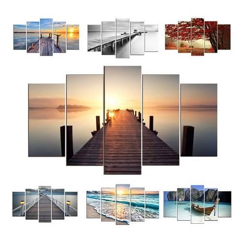 5-teiliges Wandbild Natur by Lesara | homify
