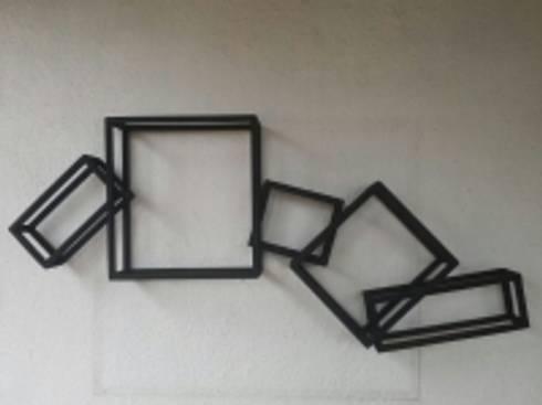 3D rectangles!: modern Living room by Designmint
