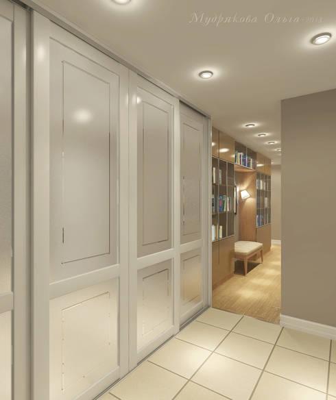 Design interior OLGA MUDRYAKOVA의  복도 & 현관