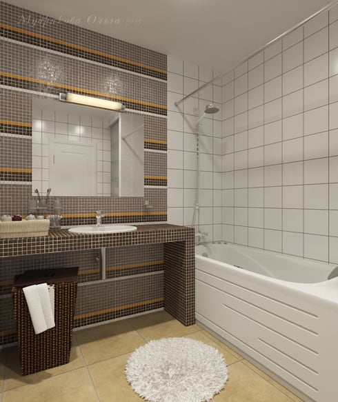 Design interior OLGA MUDRYAKOVA의  욕실