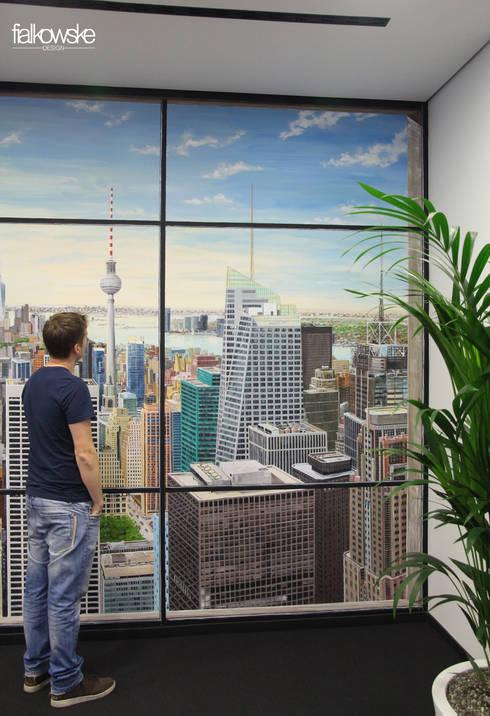 Illusionsmalerei I Wandmalerei- the skyline:  Arbeitszimmer von fialkowske design