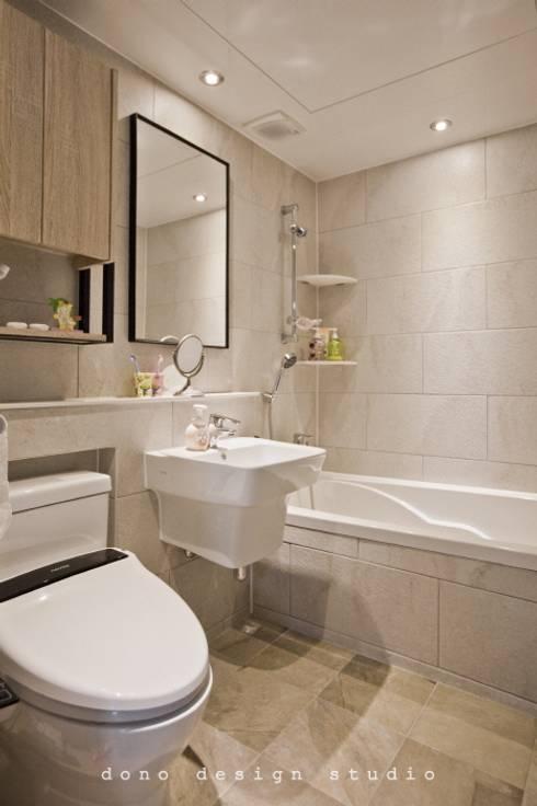 노은동 열매마을 9단지 115 M2: 도노 디자인 스튜디오의  욕실