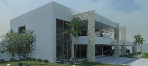 Risque Projetos: Casa Moderna : Casas modernas por RISQUE PROJETOS E ARQUITETURA