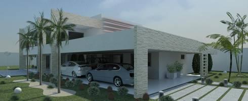 Risque Projetos: Casa Moderna - Detalhes: Casas modernas por RISQUE PROJETOS E ARQUITETURA