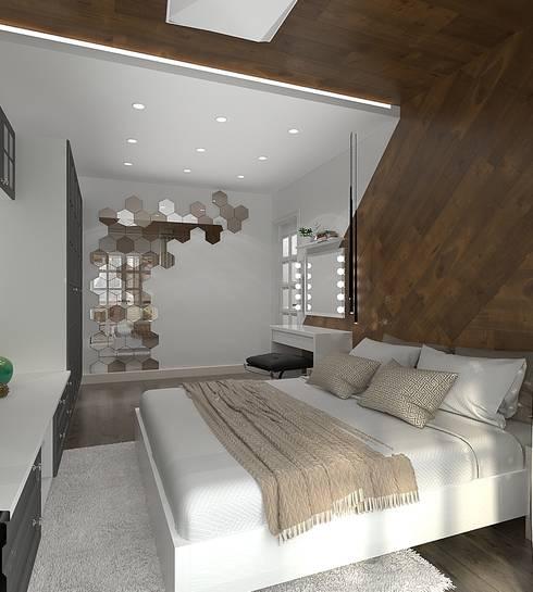 ЛЮ квартира: Спальни в . Автор – Design
