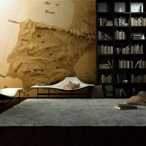 Papel de Parede escritório: Parede e piso  por CreativeArq