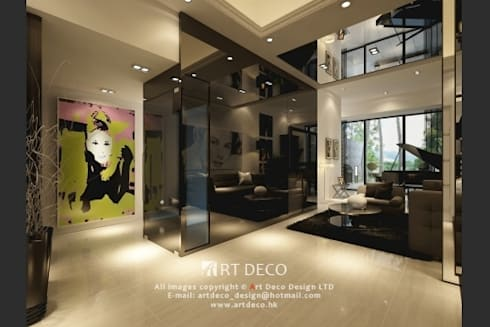 Casa Marina: classic Living room by Art Deco Design Ltd.