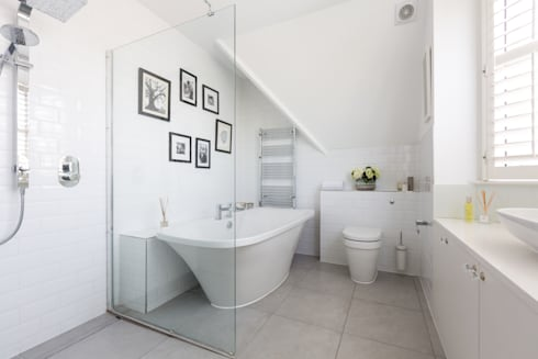 Broadgates Road: modern Bathroom by Granit Architects