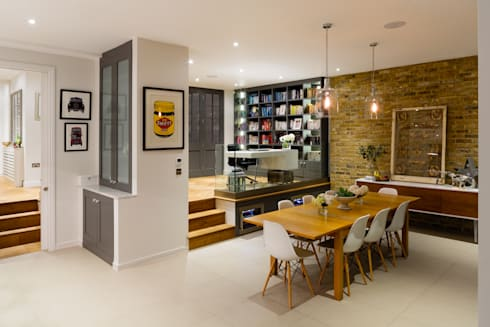 Broadgates Road: modern Dining room by Granit Architects