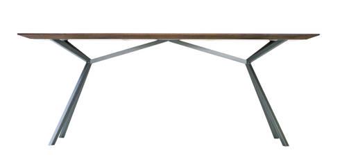 KT11 – Massivholztisch – Technik und Natur im Einklang: moderne Arbeitszimmer von Christian Kroepfl