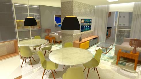 Living: Salas de estar modernas por Arquitetura do Brasil