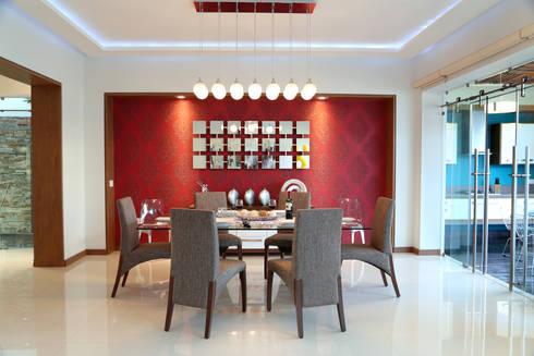 comedor: Comedores de estilo moderno por arketipo-taller de arquitectura