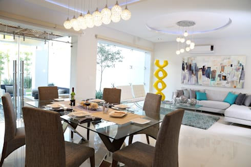 sala comedor: Salas de estilo moderno por arketipo-taller de arquitectura