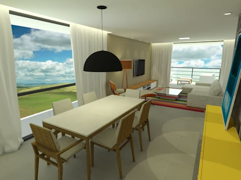 Casa - Vicente Pires/DF: Salas de jantar modernas por Arquitetura do Brasil