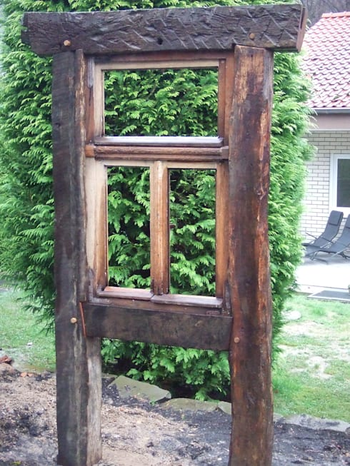 Garten gestaltung fachwerk bau recycled holz von chippie for Fachwerk holz