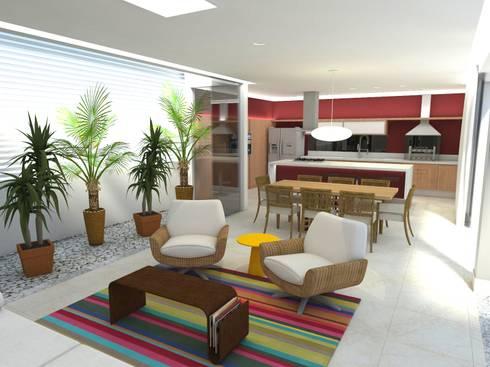 Casa - Sobradinho/DF: Salas de estar modernas por Arquitetura do Brasil