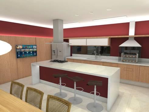 Casa - Sobradinho/DF: Cozinhas modernas por Arquitetura do Brasil