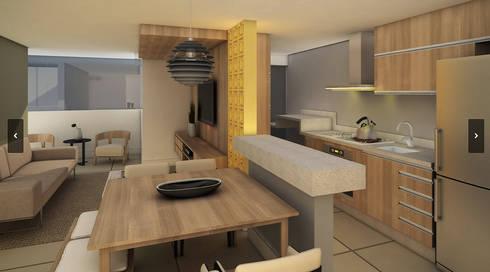 Apartamento - 316 Norte - Brasília/DF: Salas de jantar modernas por Arquitetura do Brasil