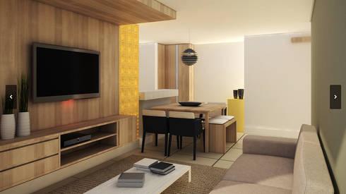 Apartamento - 316 Norte - Brasília/DF: Salas de estar modernas por Arquitetura do Brasil