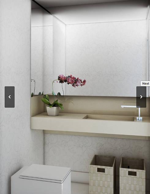 Apartamento - 316 Norte - Brasília/DF: Banheiros modernos por Arquitetura do Brasil