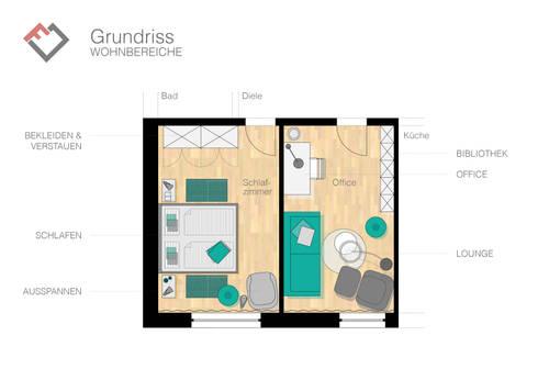 konzept f r einen kunden schlaf und arbeitszimmer von furnitects gmbh homify. Black Bedroom Furniture Sets. Home Design Ideas